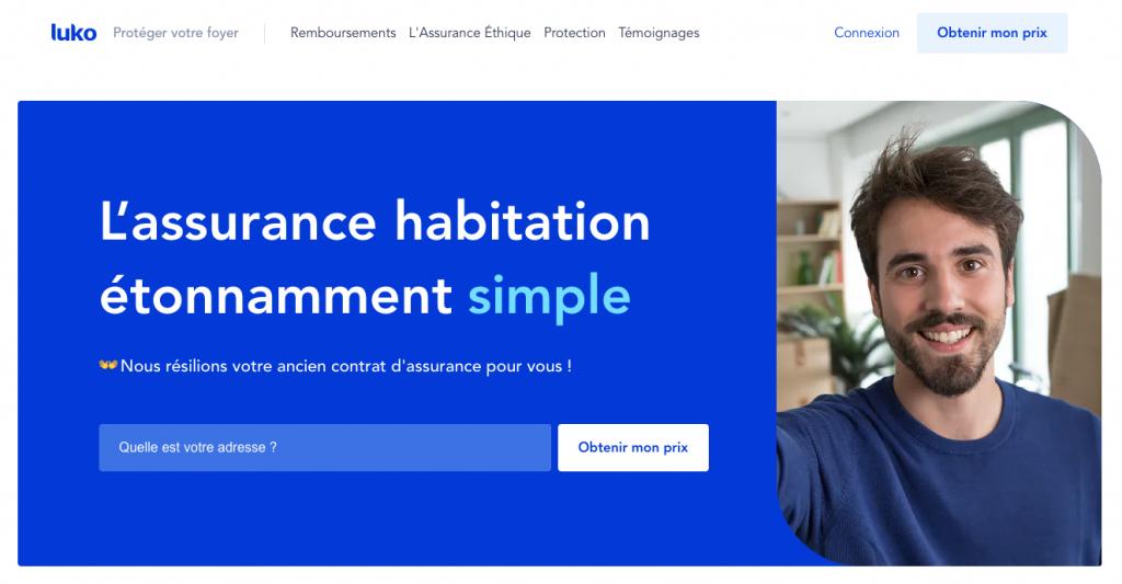 luko insurance website home page screenshot